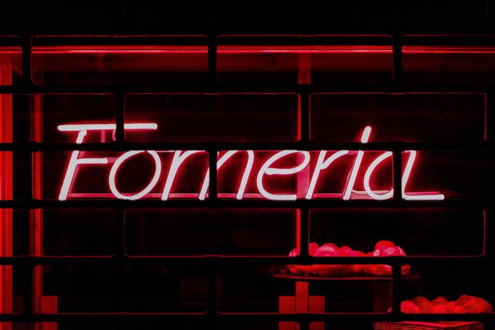 red Fomeria neon-signage