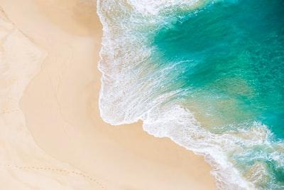 aerial shot of seawaves