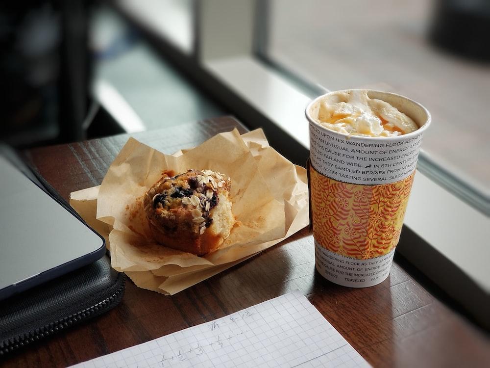 bread beside drink