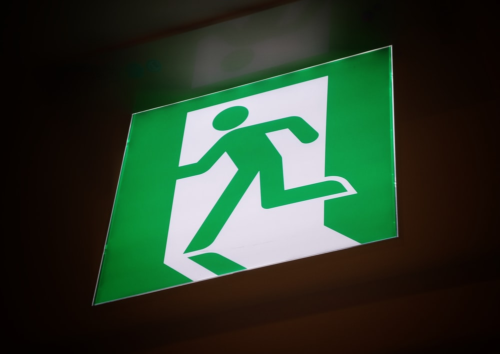 fire exit lighted signage