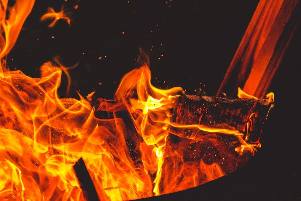 flame digital wallpaper