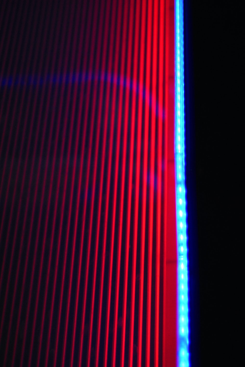blue and black screen with blue light