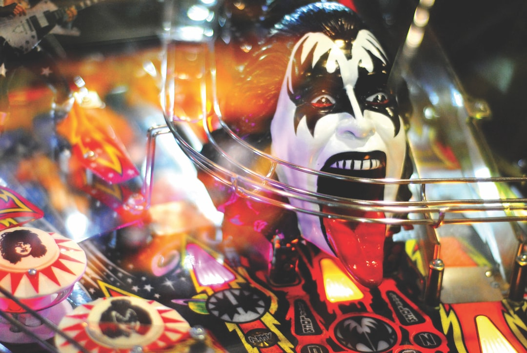 Gene Simmons, immortalised in a pin ball machine.