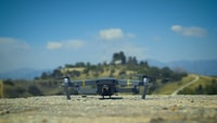 quadcopter on soil