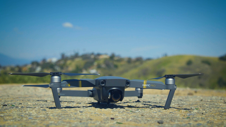 DJI Mavic Pro quadcopter on ground