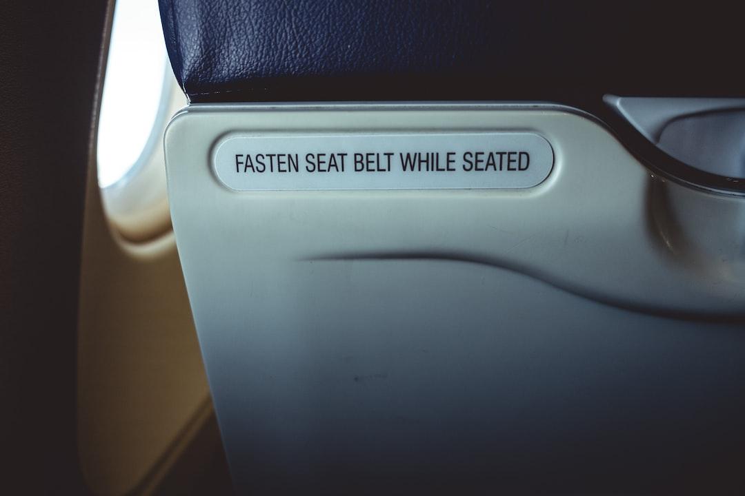 La ceinture d'avion