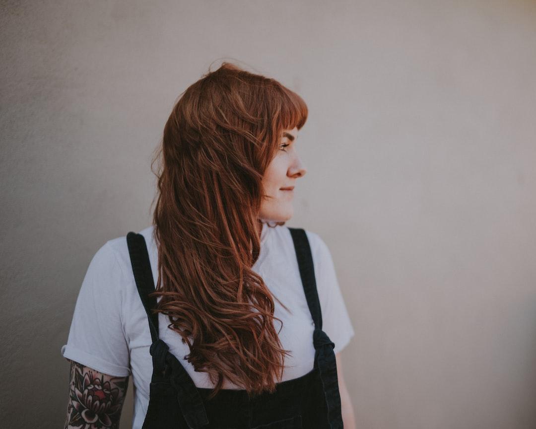 Woman wearing dungarees