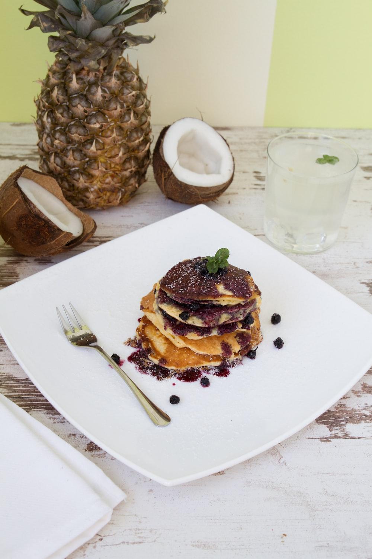 pancake on white plate