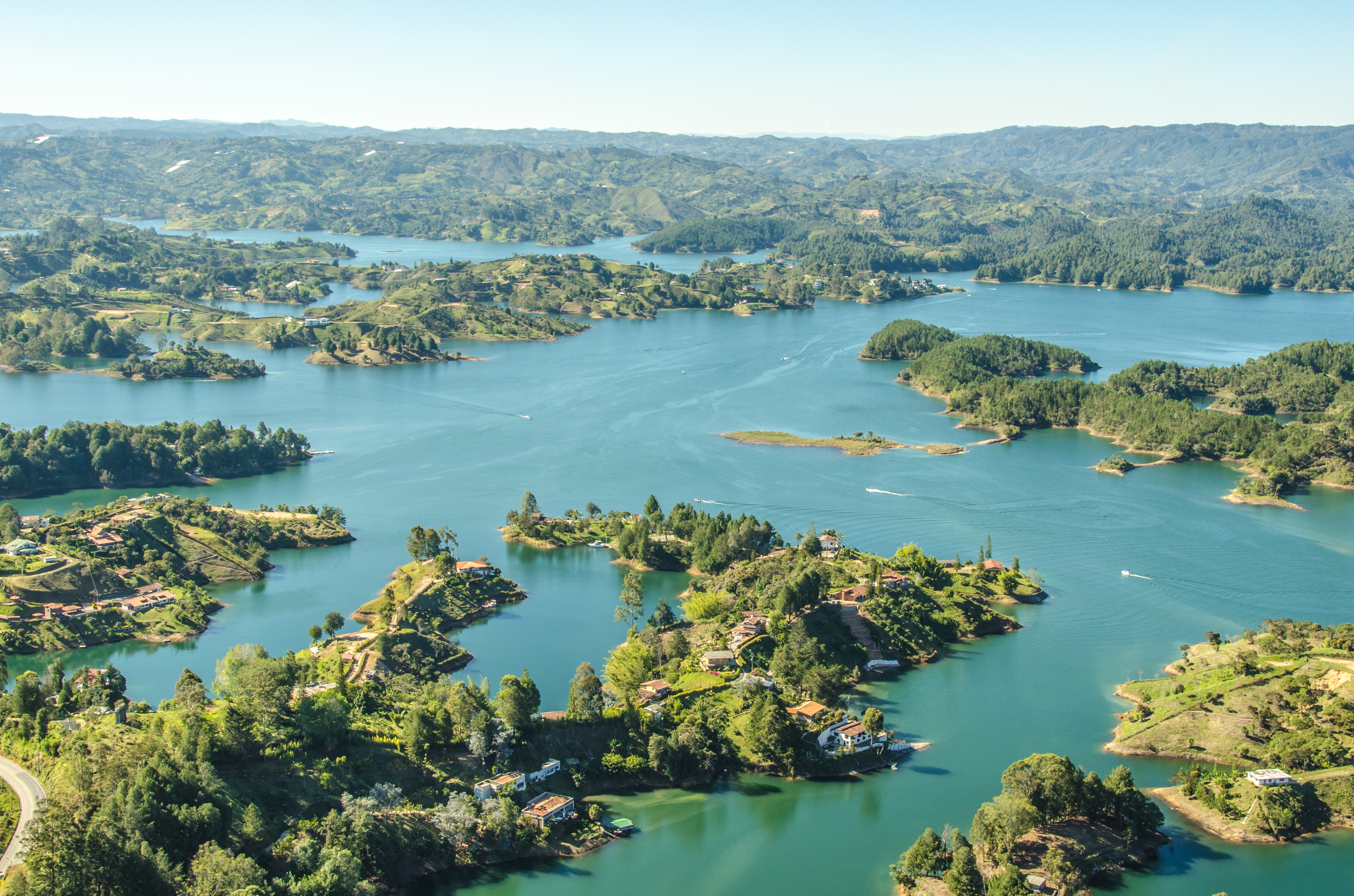 aerial photography of islands surrounded with body of water