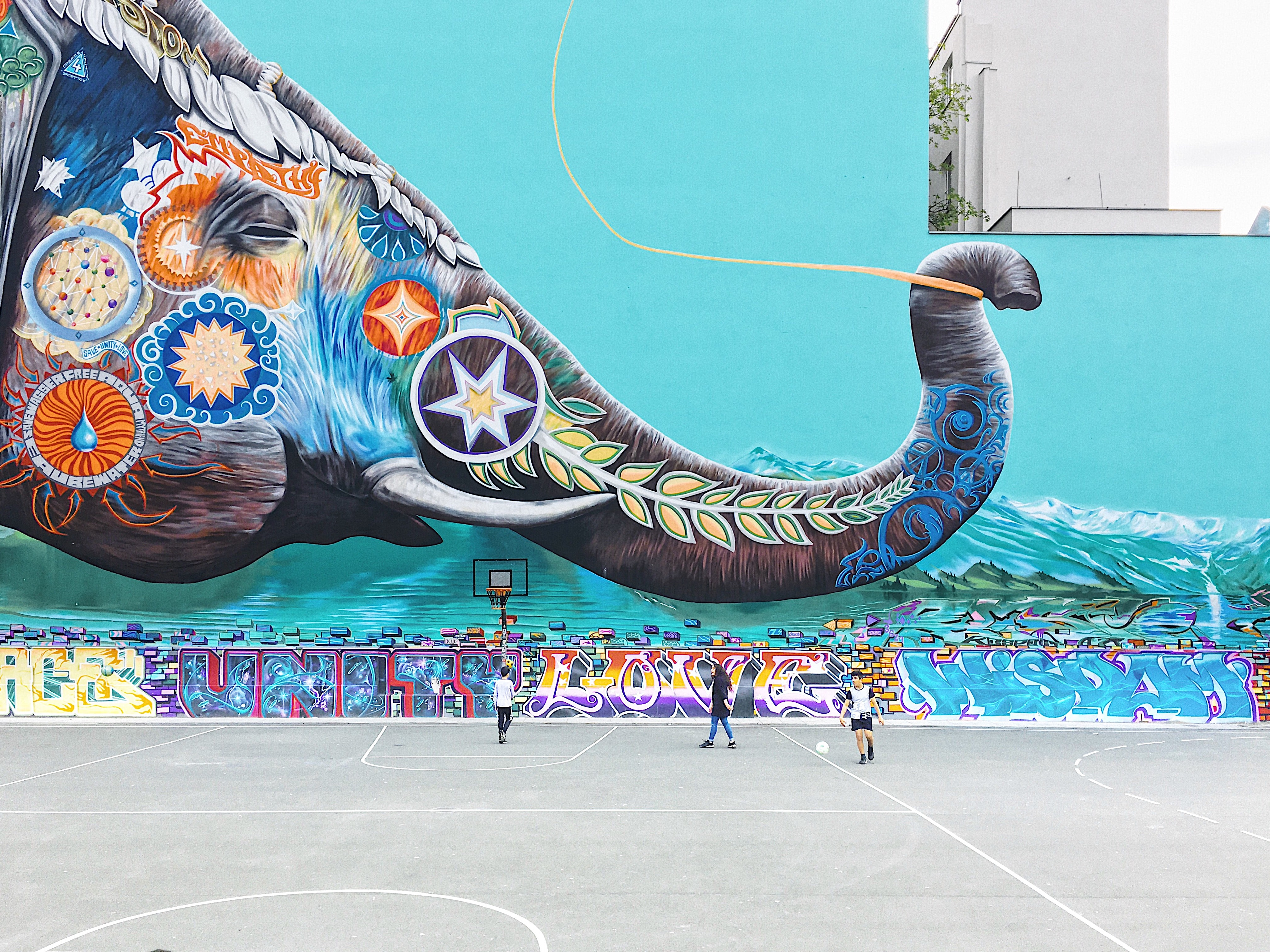 Painting of a painted elephant