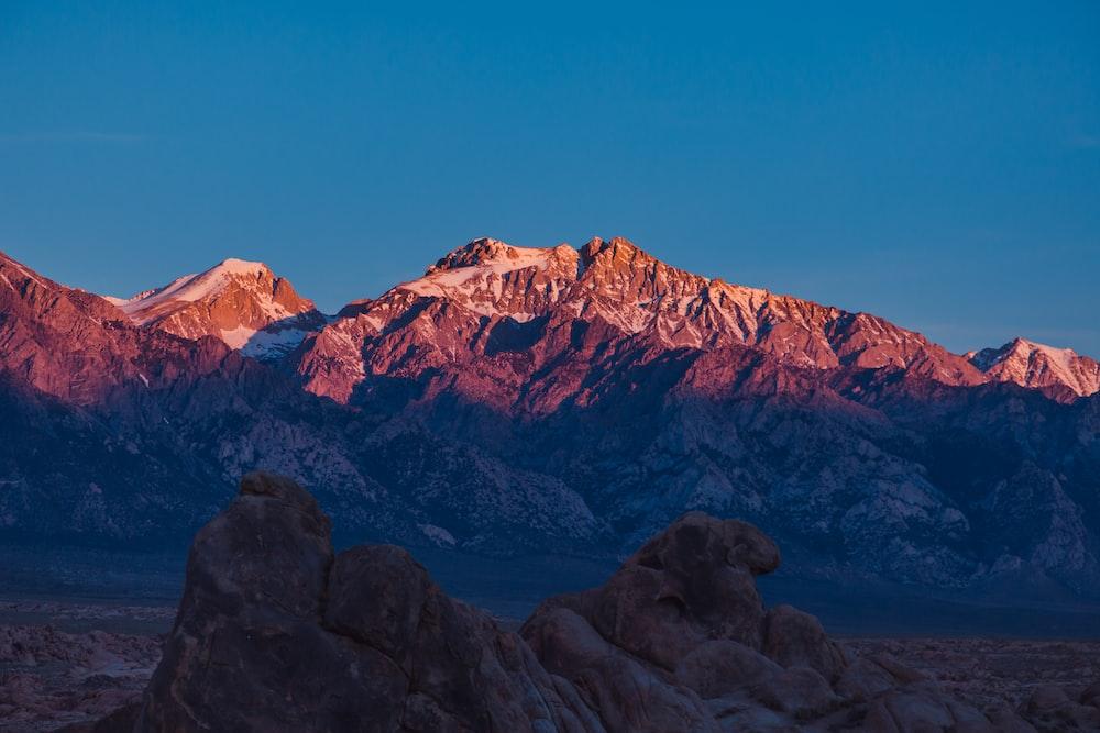 mountain during sunrise