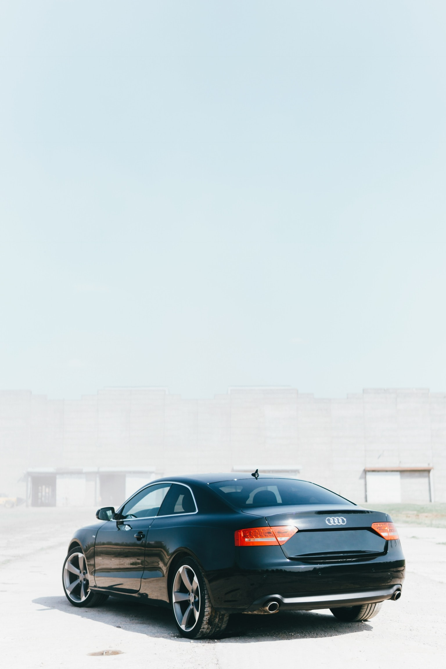 black Audi coupe
