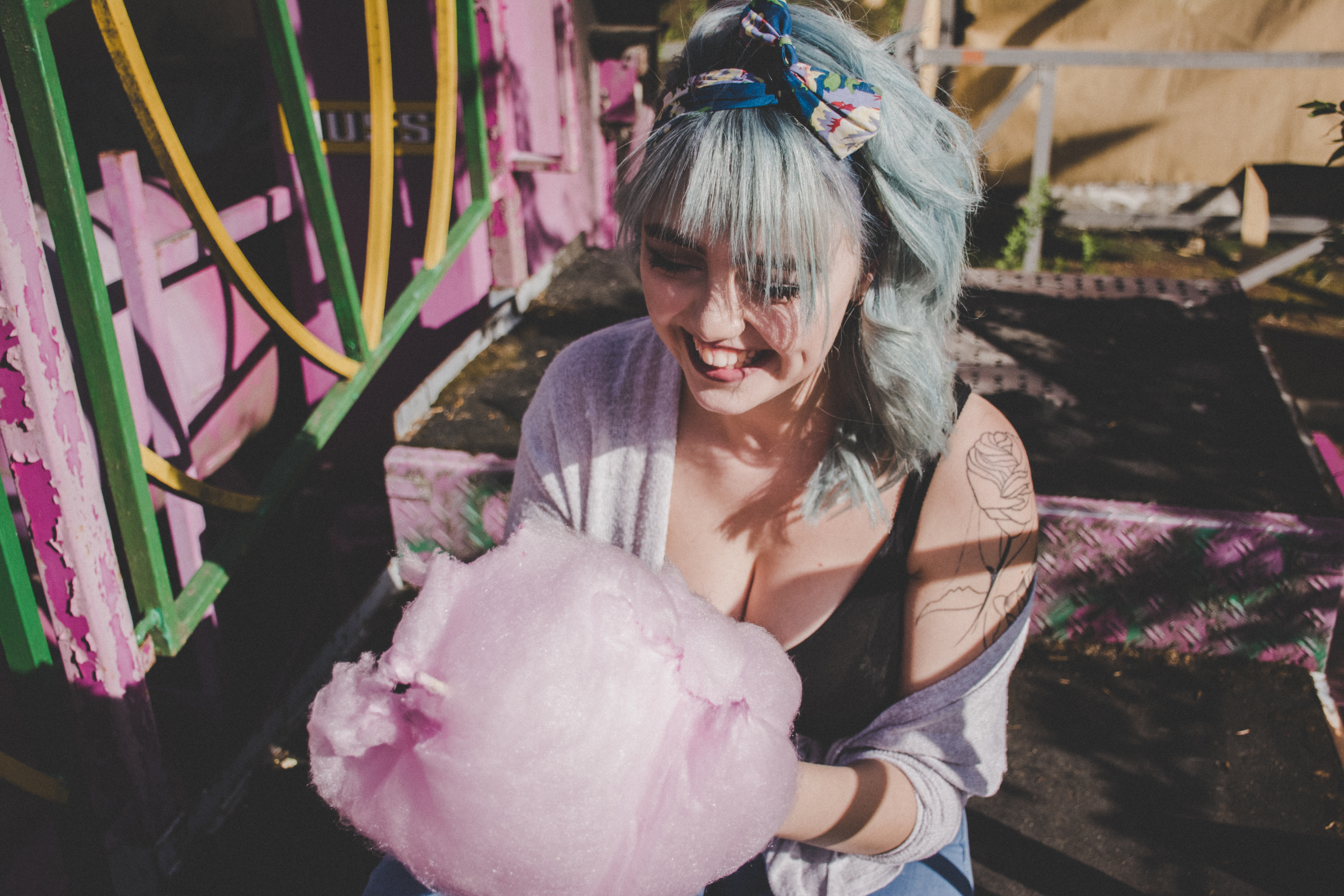 Woman with Candy Floss
