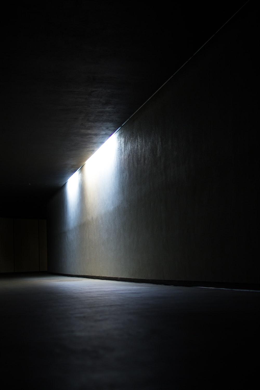 dim lighted room