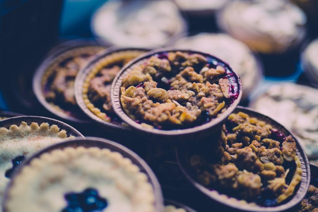 Gluten free winter fruit pies