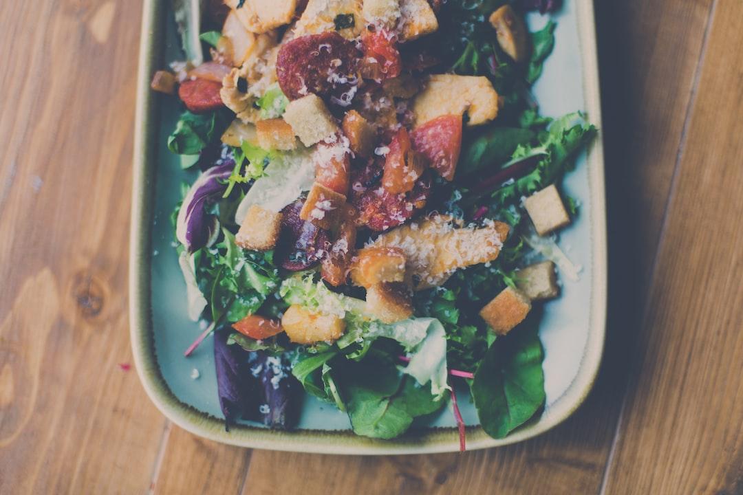 Simple Salad with fresh ingredients