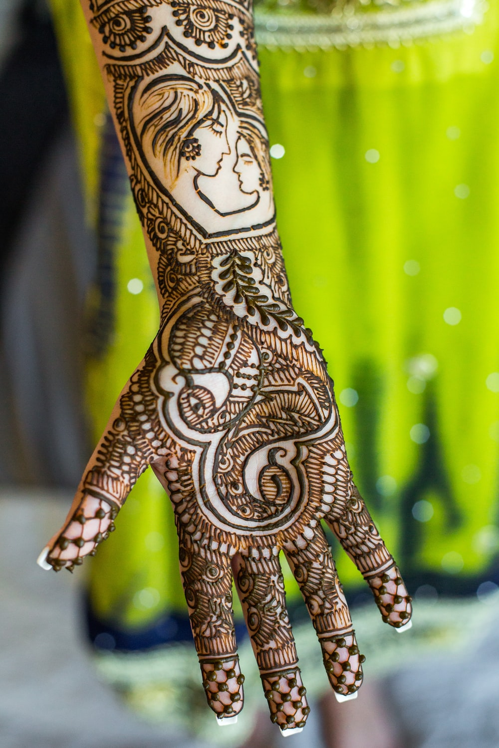 person's right mehndi tattoo