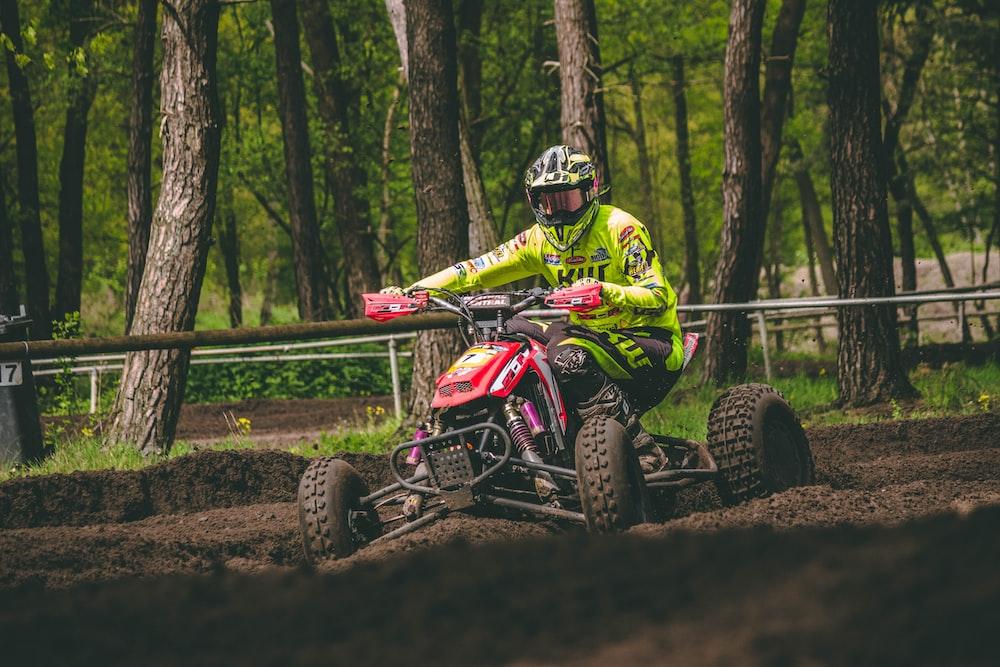 person using ATV