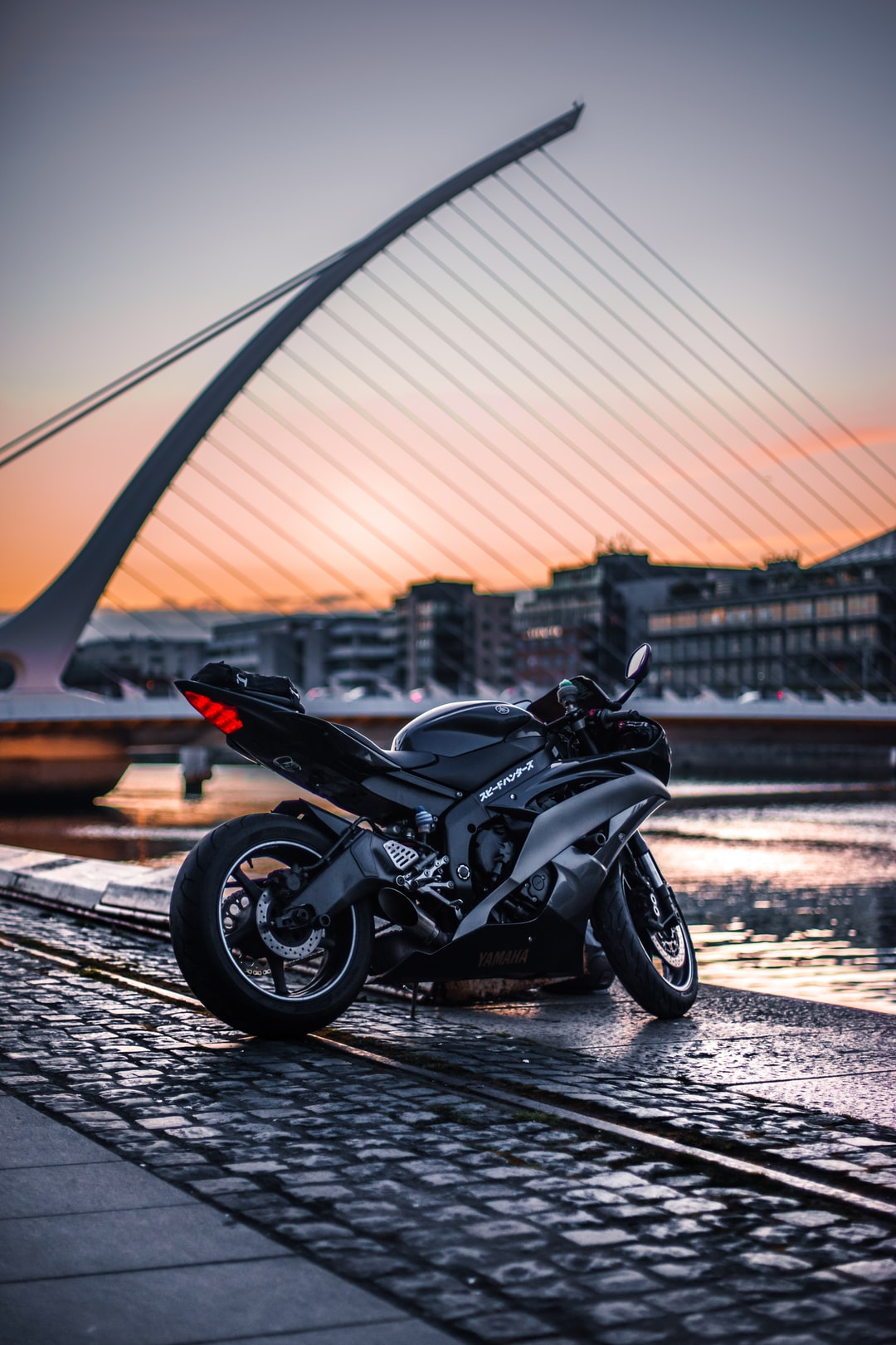 Just a random snap of my bike beside the Samuel Beckett Bridge in Dublin