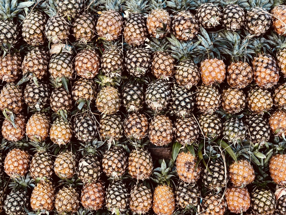 pile of pineapple fruits