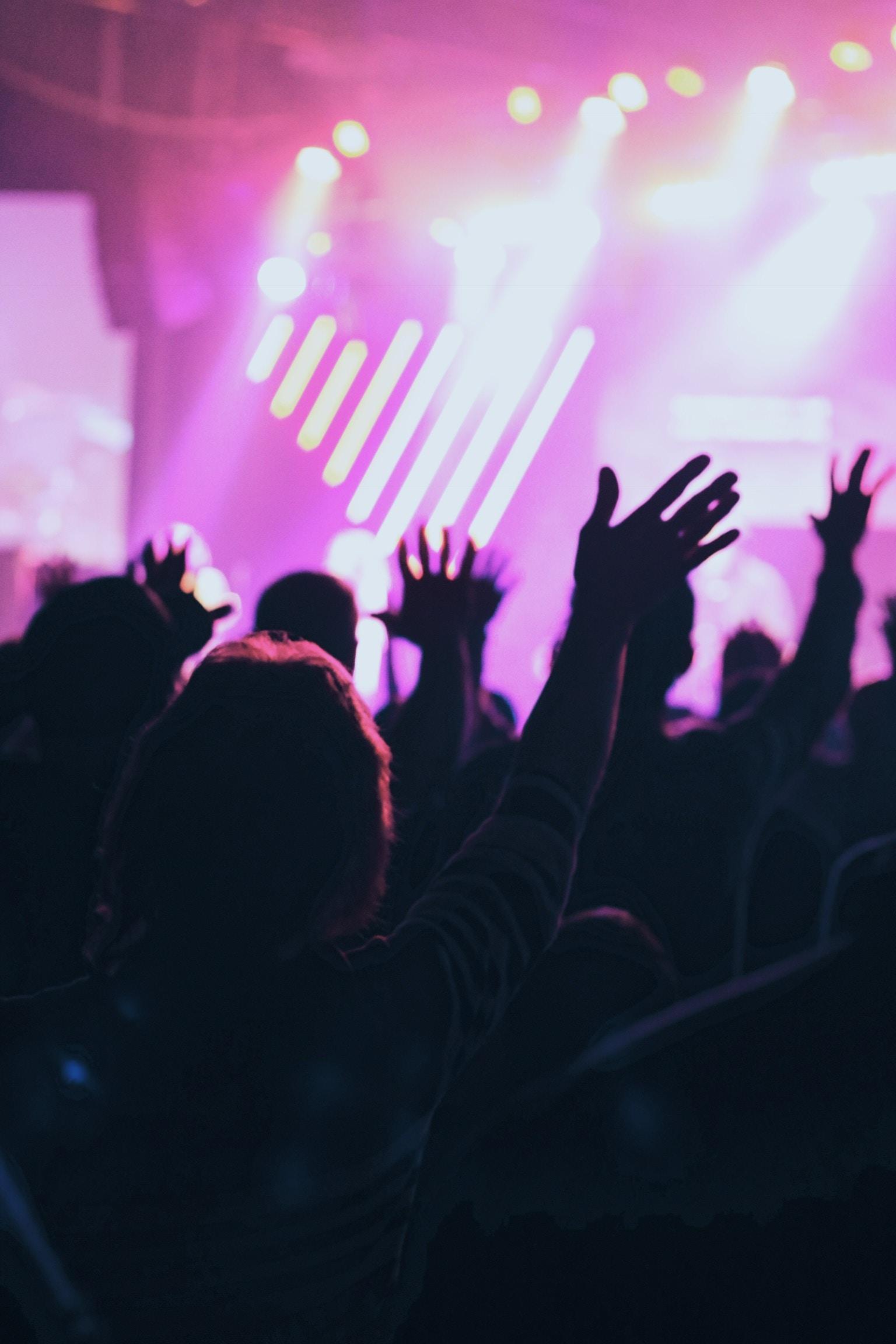 group of people praising