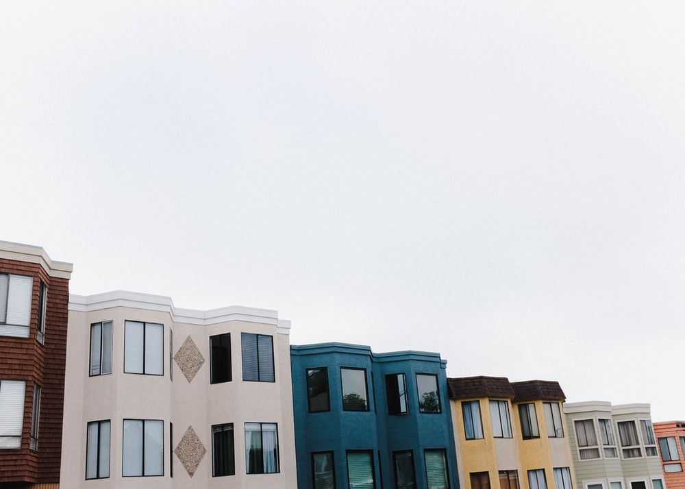 assorted-color concrete buildings