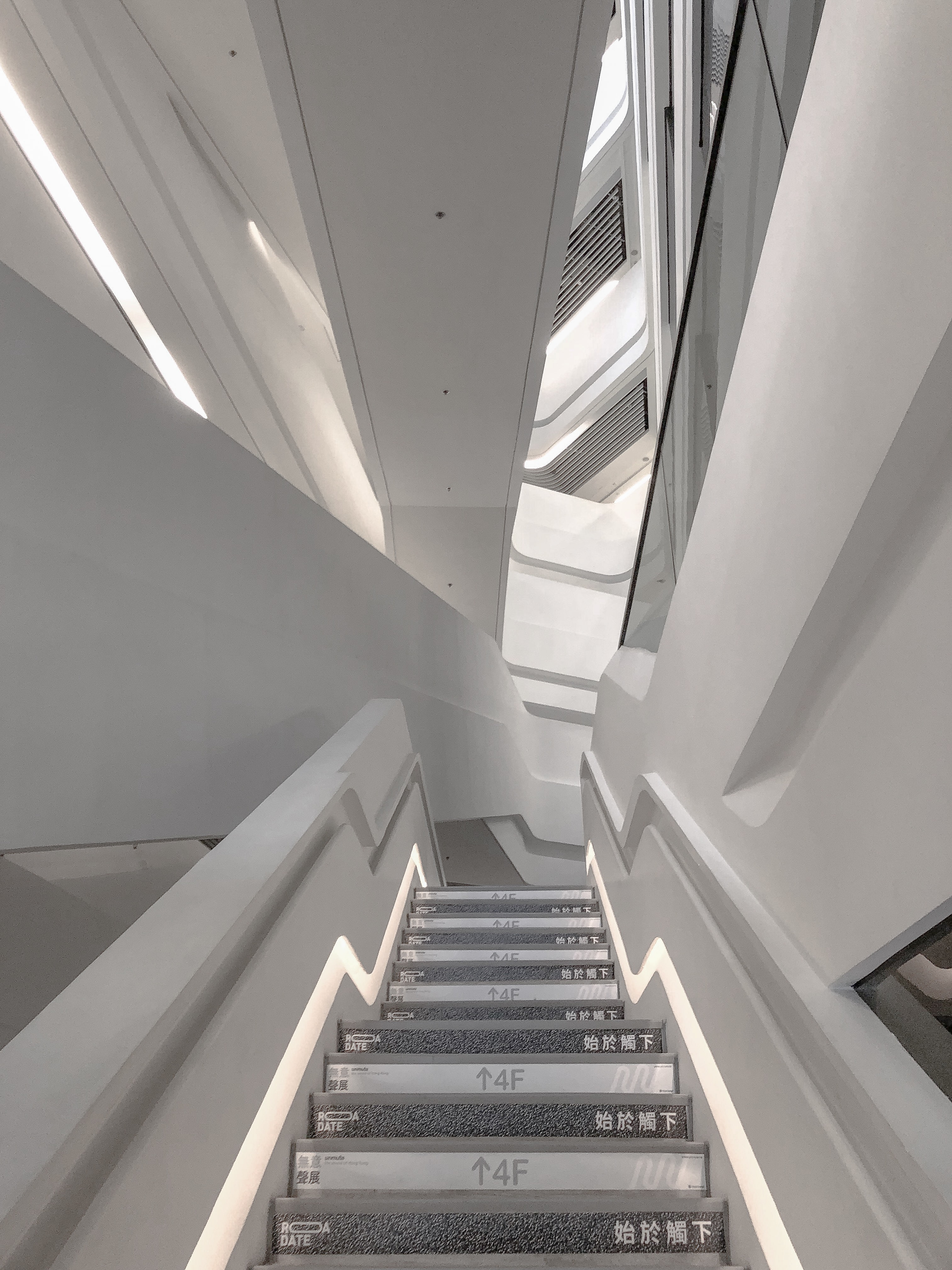 gray and white up-stair photo