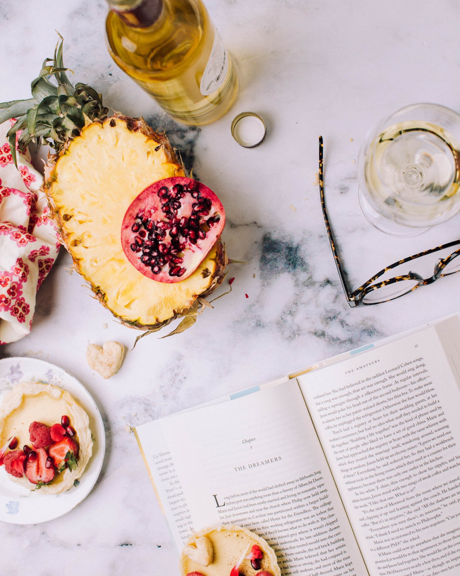 sliced pineapple on white surface