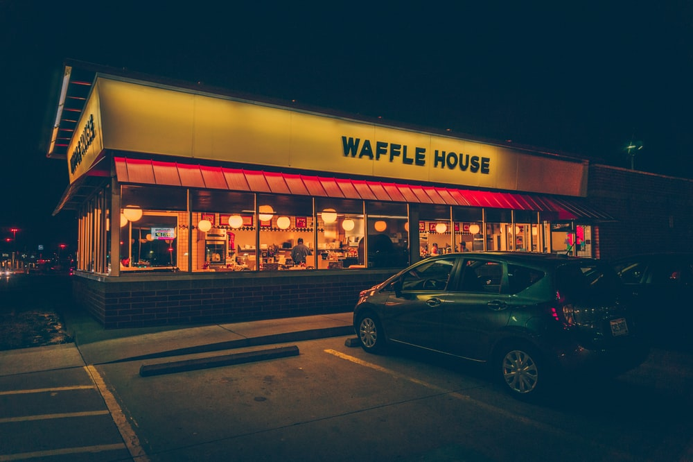 Waffle House storefront during daytime