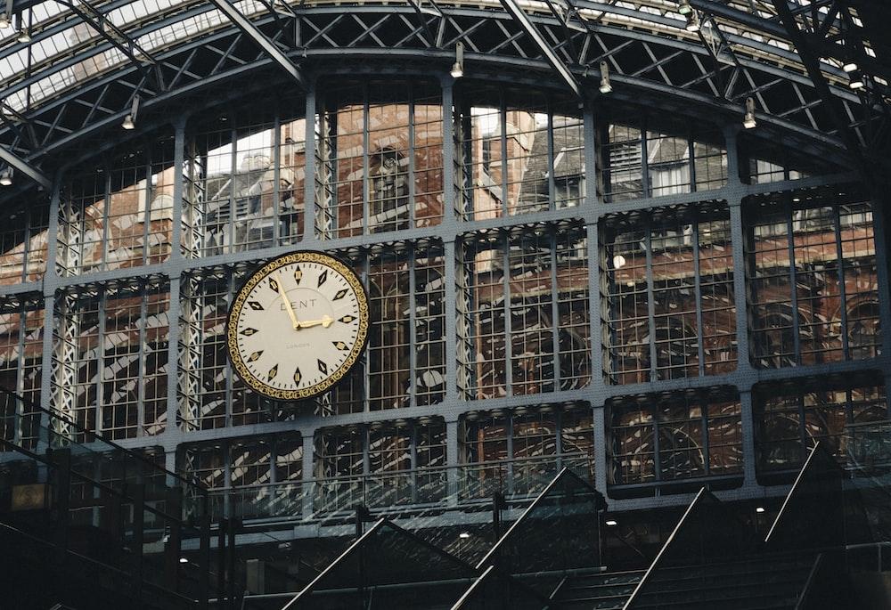 wall clock of terminal at 3:55