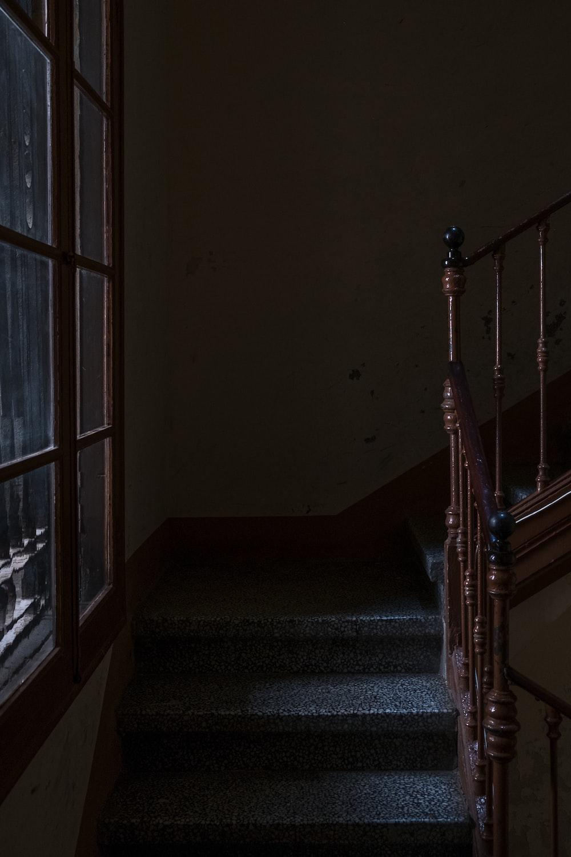 brown wooden stair balluster