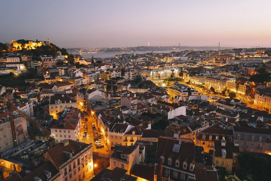 Lisbon Cityscape Sunset