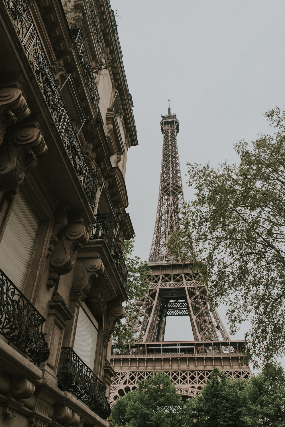 low-angle photography of Eiffel Tower, Paris