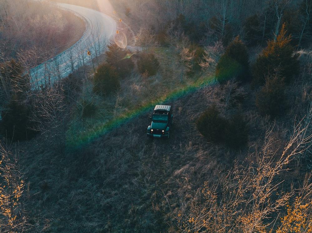 car on hill