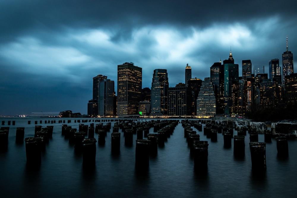 landscape photography of city buildings
