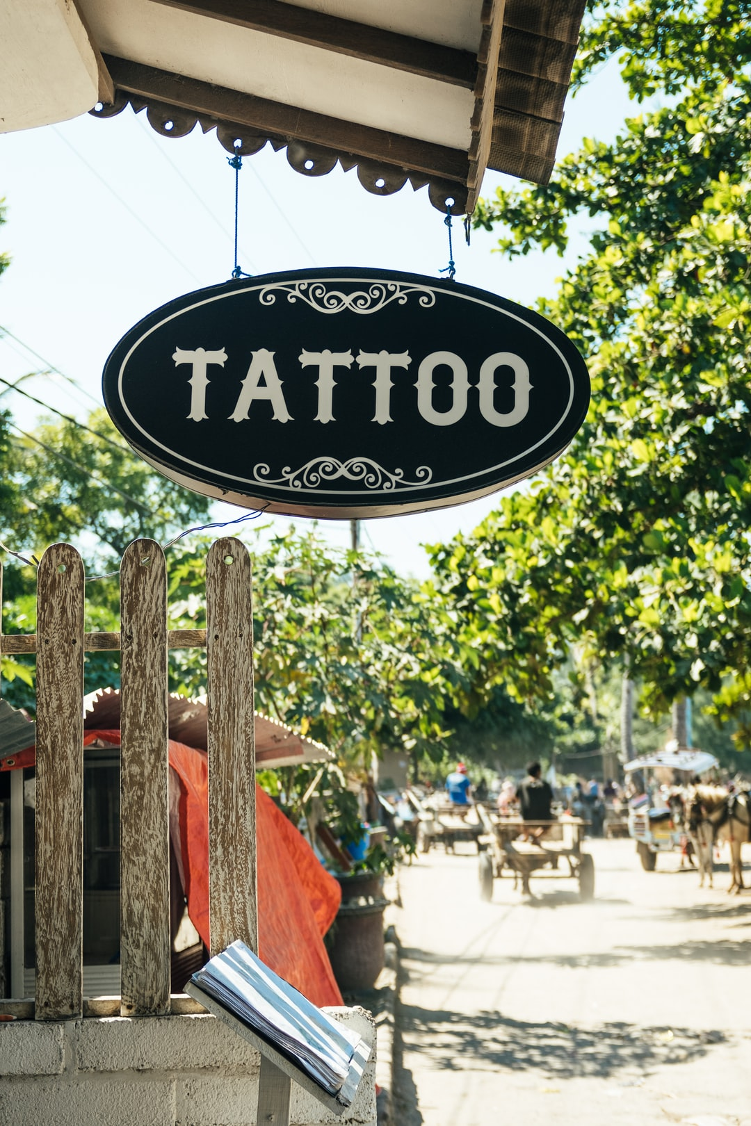 Tattoo shop in Gili Air