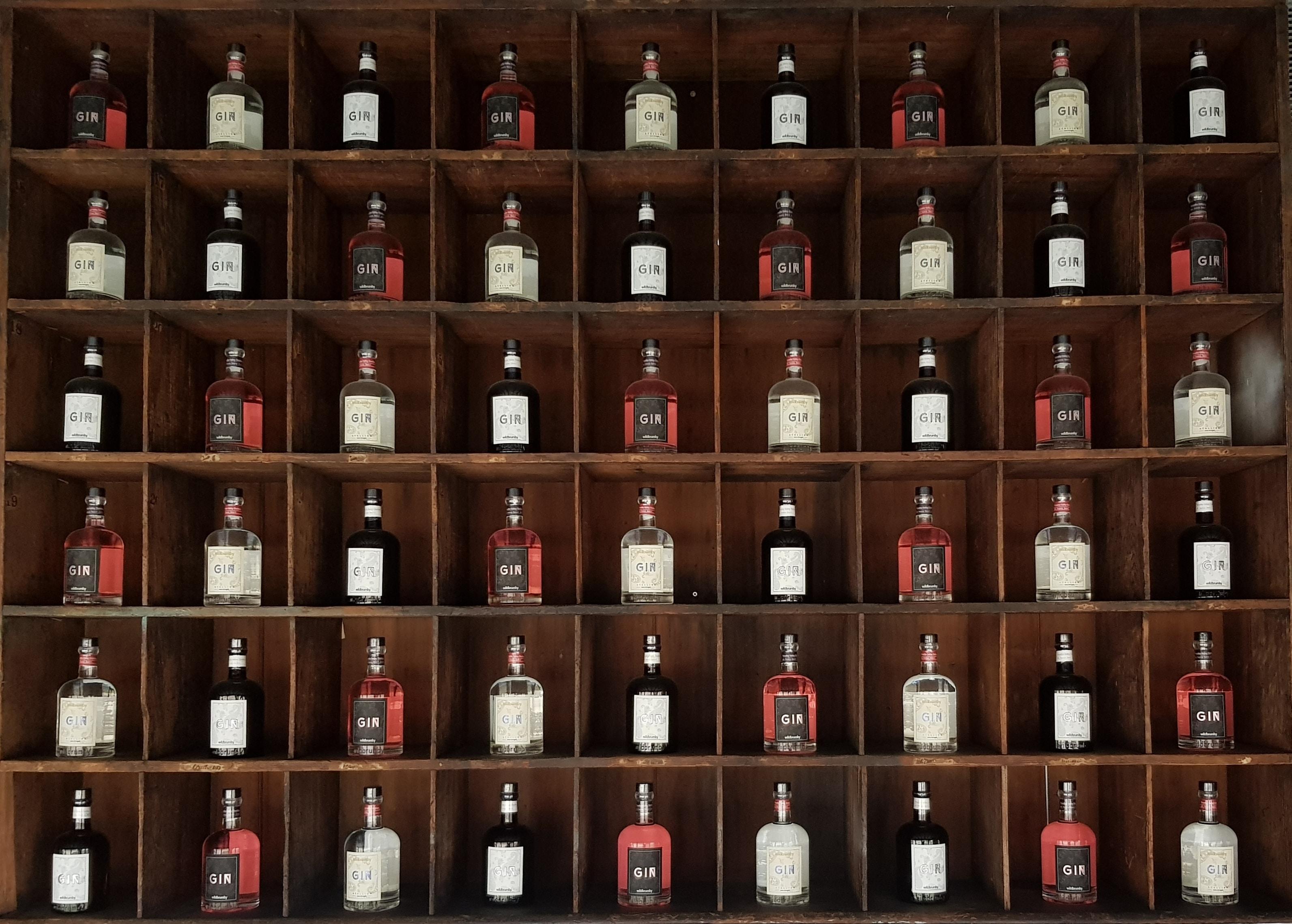 assorted liqueur bottle lot