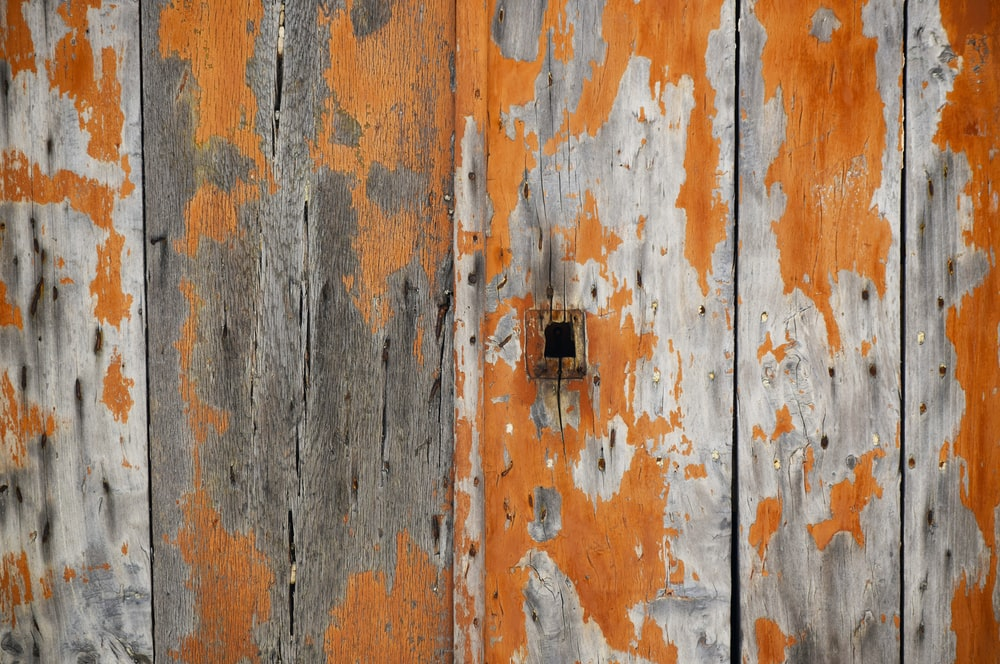 orange and brown wooden board