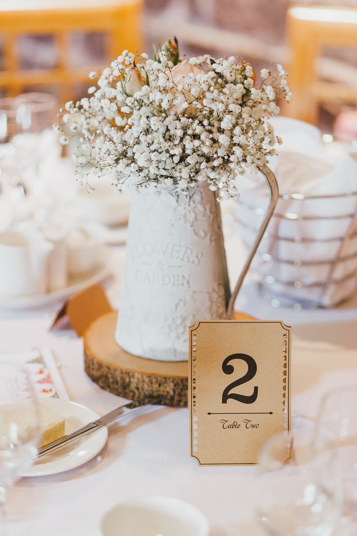 white petaled flower table decor