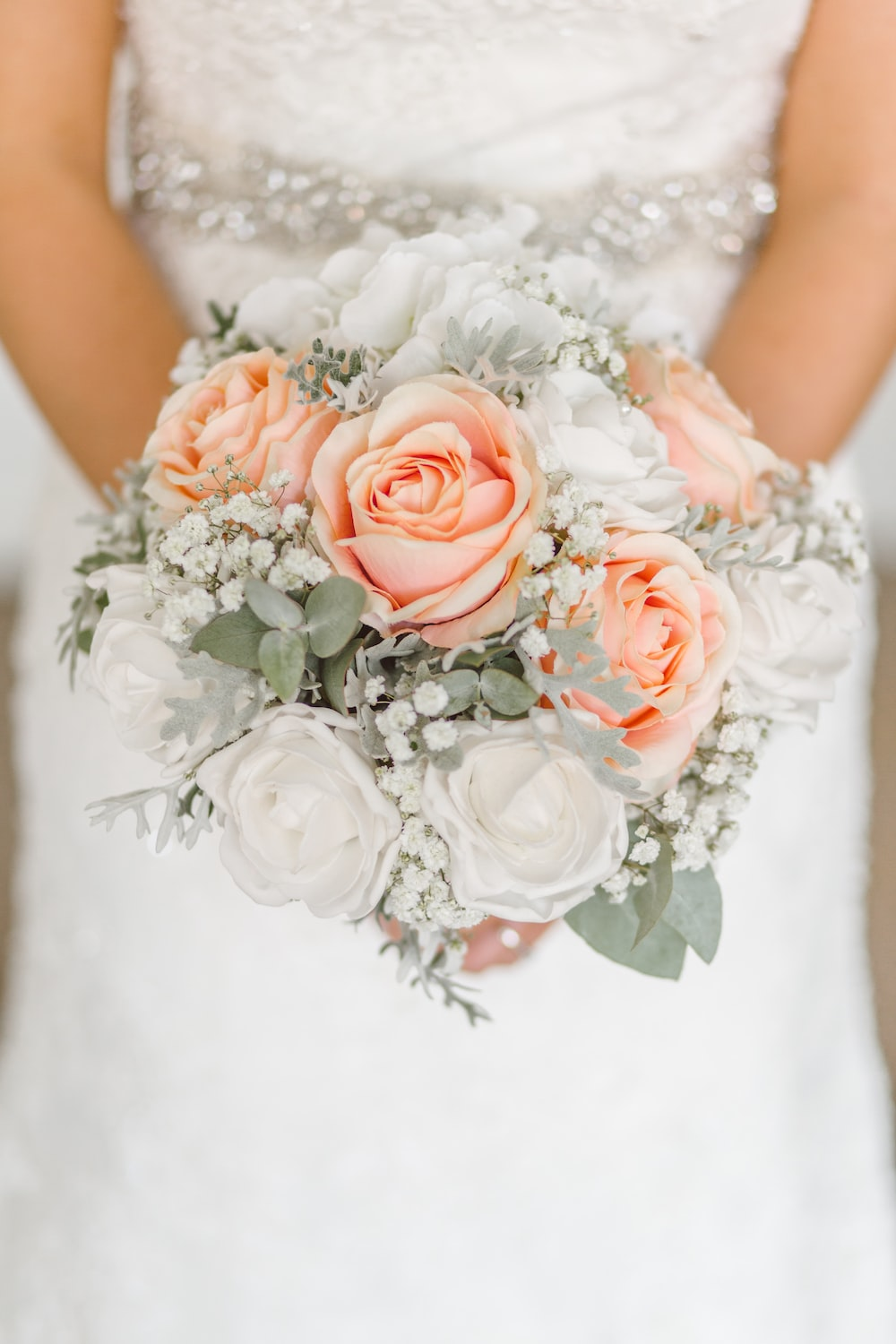 Wedding pictures download free images on unsplash woman holding white and pink rose flower bouquet izmirmasajfo