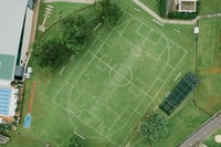 top view photography of game field