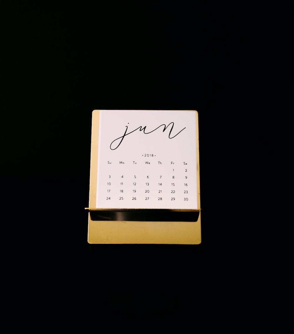 yellow calendar
