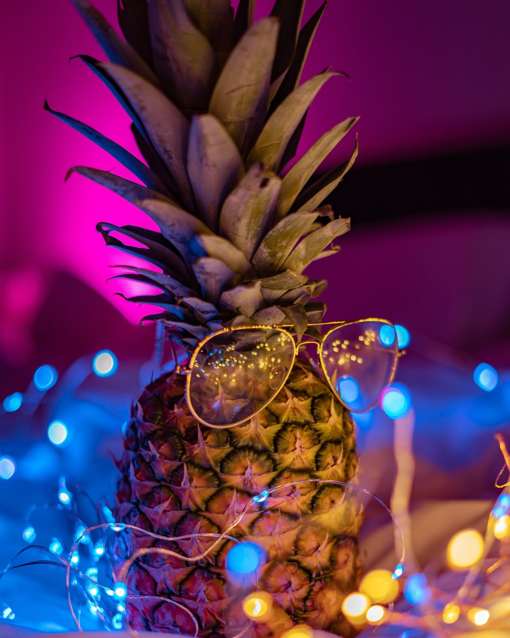 sunglasses on pineapple