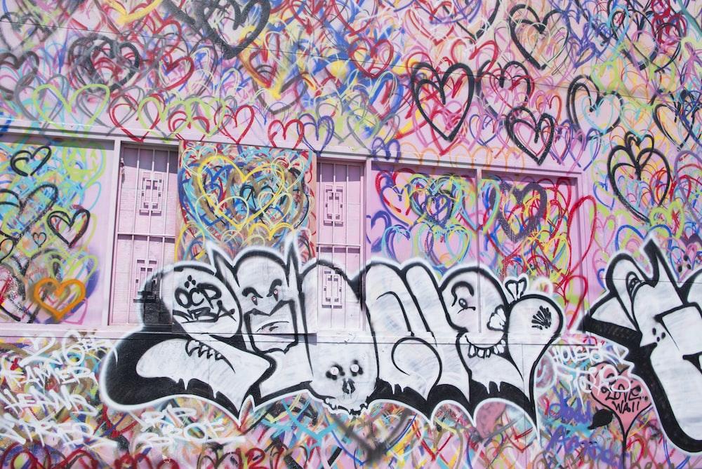 multicolored murals