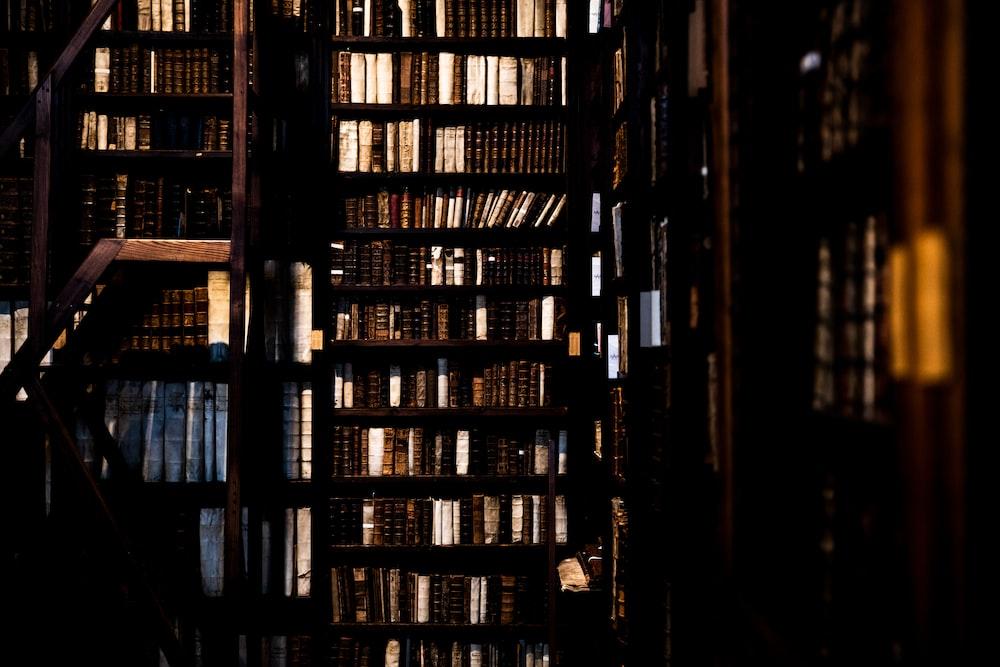 books on bookcase