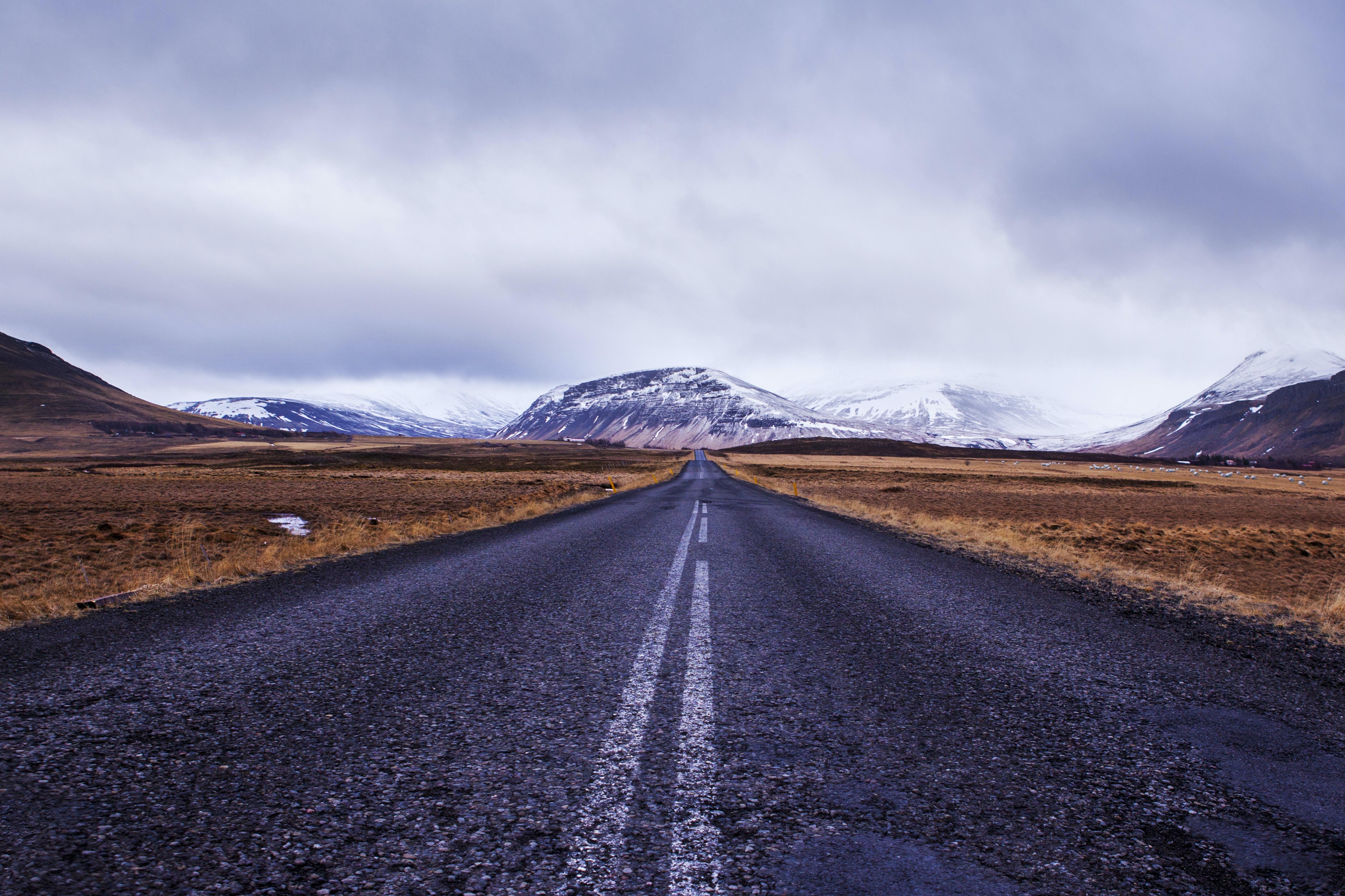empty road facing mountain m