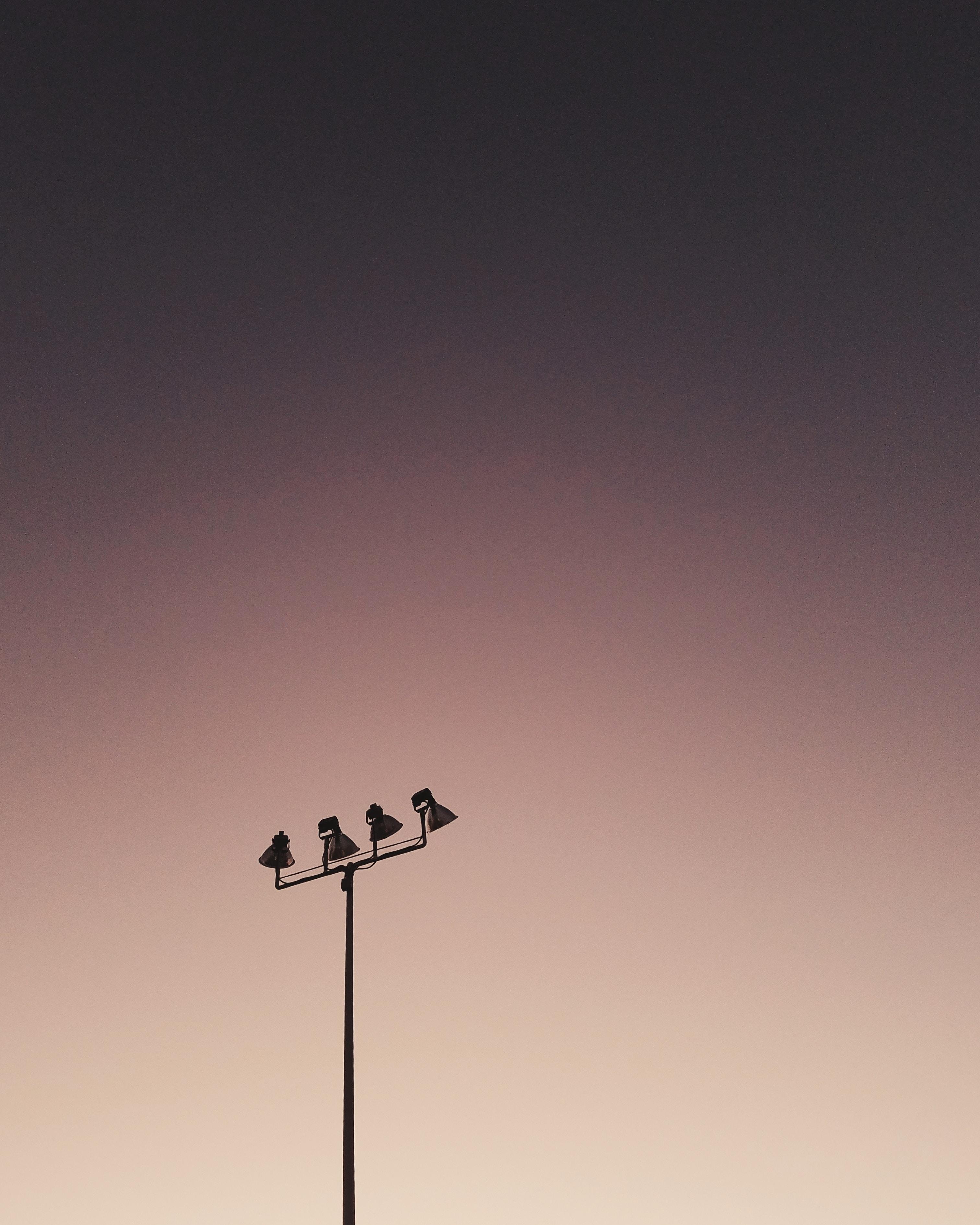 black field lamp