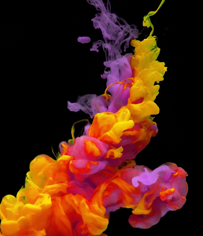 yellow and purple smoke