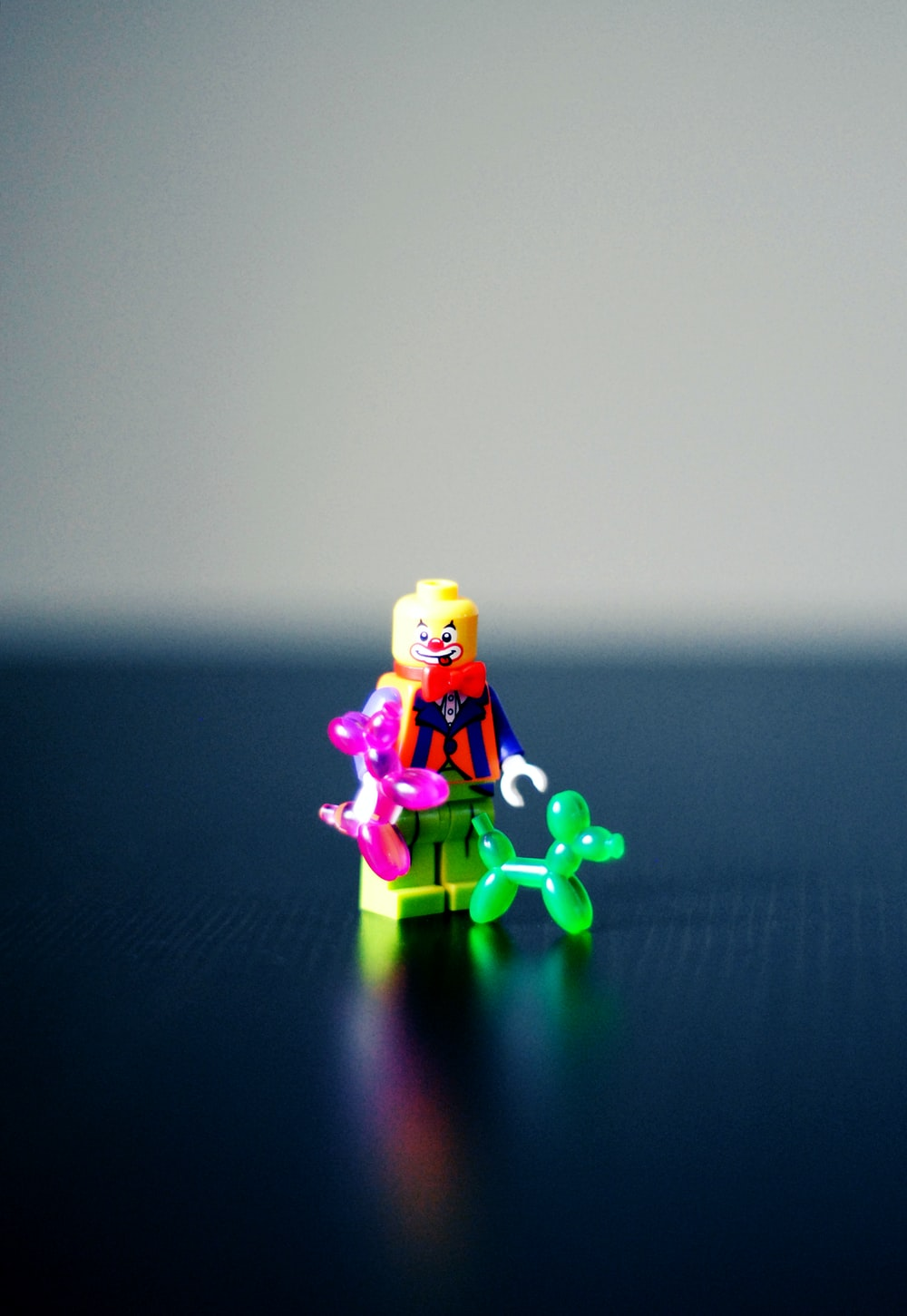selective photography of Clown minifig toy