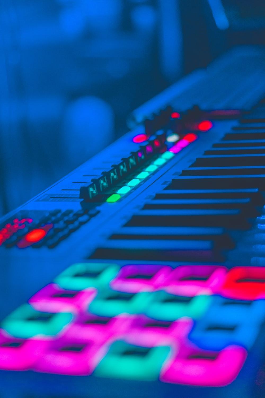 selective focus photography of terminal mixer